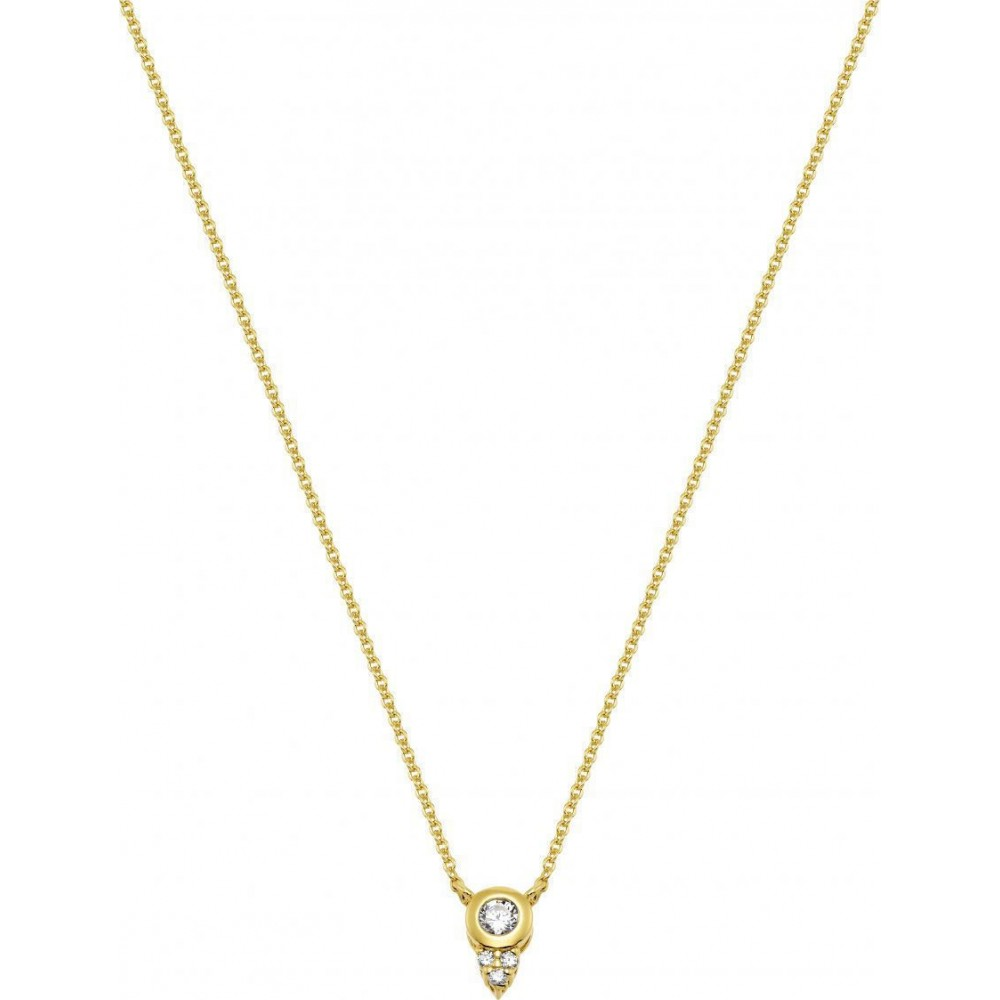 VOGUE Necklace 925 Silver Gold Tone Plated 1053401