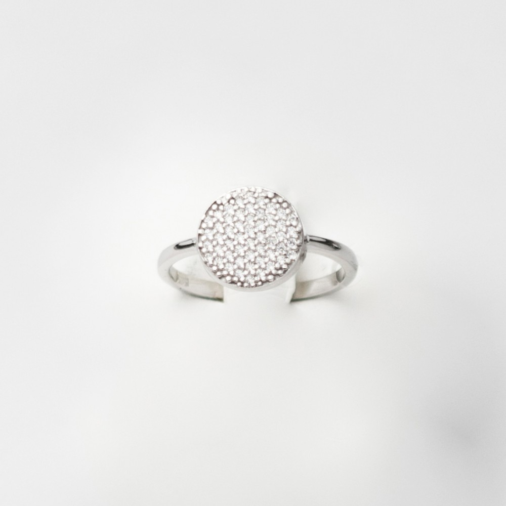 14K White Gold Ring With Zircon 2L1718A1