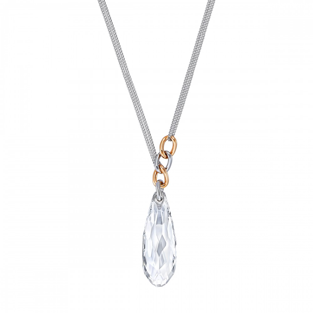SWAROVSKI Either Necklace Medium White Rhodium Plated 5182592