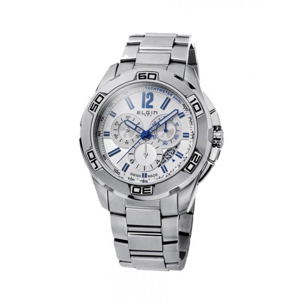 ELGIN Chronograph Stainless Steel Bracelet 52101.1
