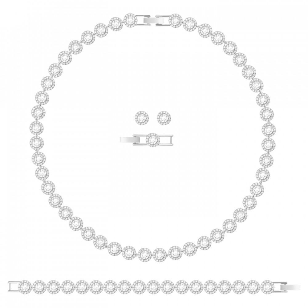 SWAROVSKI Angelic Set Round White Rhodium Plated 5367853