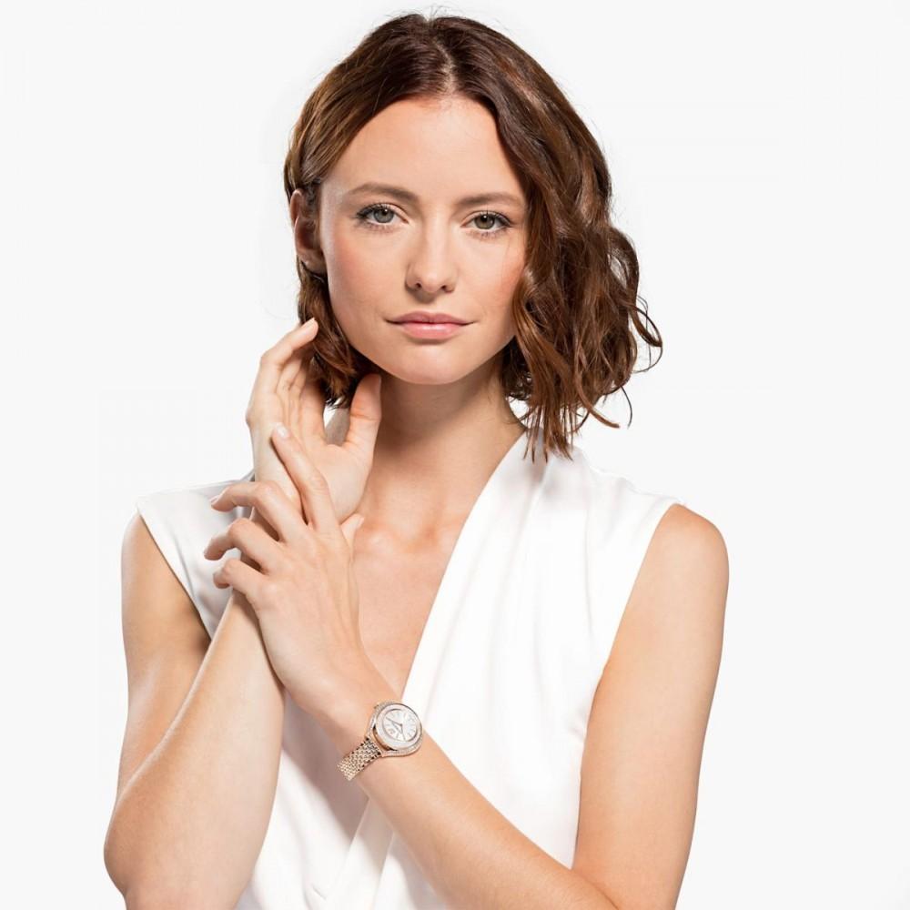 SWAROVSKI Crystalline Aura Metal Bracelet White Rose Gold Tone 5519459