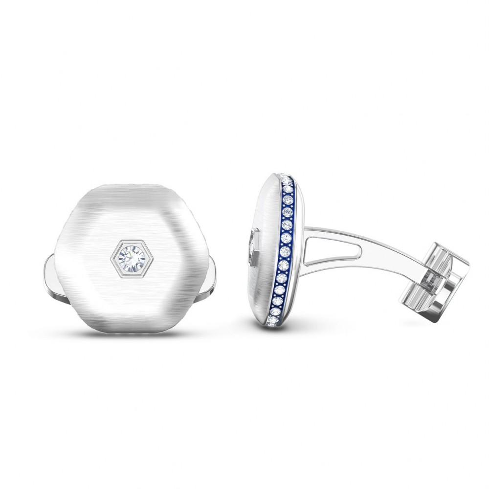 SWAROVSKI Theo Air Element Cufflinks White Rhodium Plated 5569154