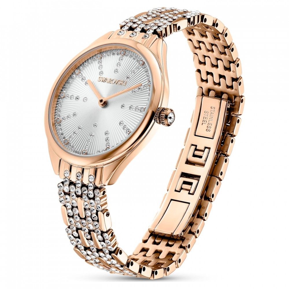 SWAROVSKI Attract Metal Bracelet White Rose Gold Tone Plated 5610487