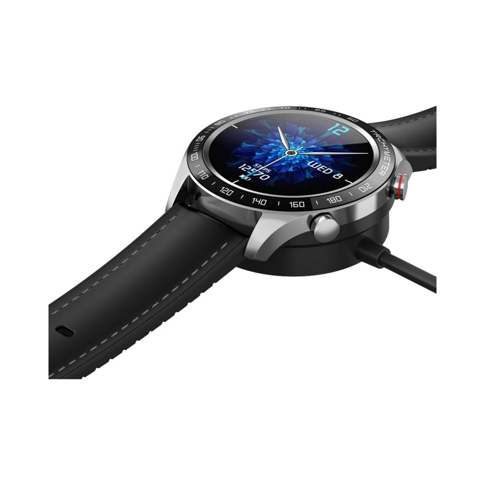 DAS.4 SG22 Smartwatch Black Leather Strap 75031