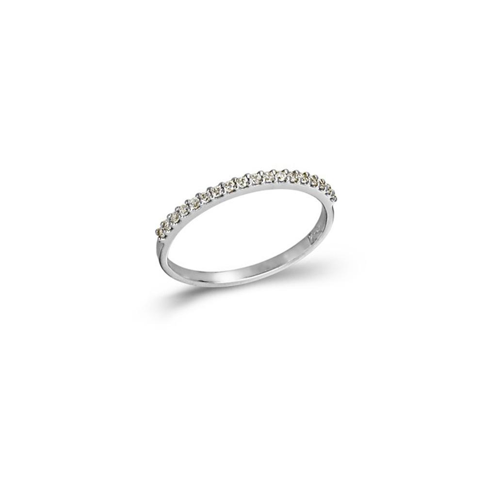 14K  Λευκόχρυσο Δαχτυλίδι με Ζιργκόν AD3037K1