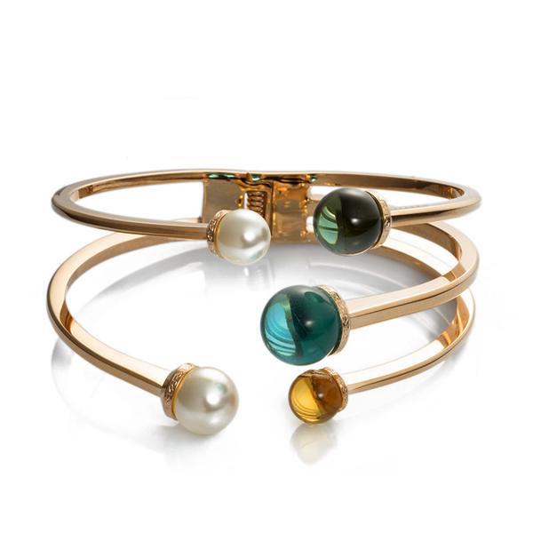 REBECCA Boulevard Stone Bracelet Gold Tone Plated