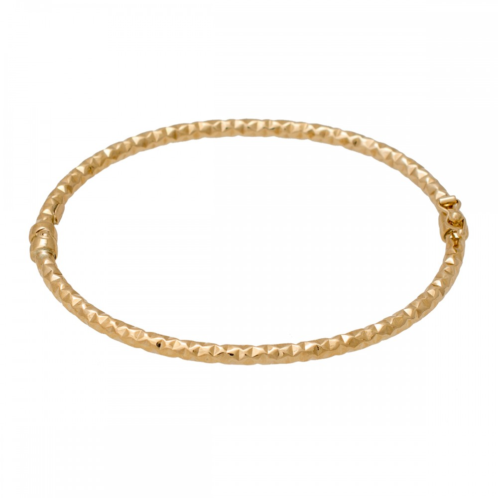 14K Χρυσό βραχιόλι Χειροπέδα BR7020