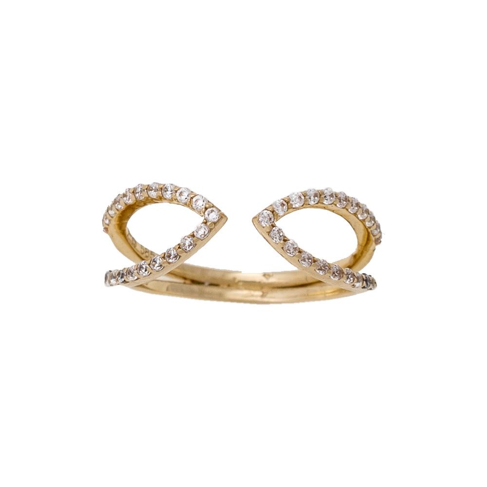14K Χρυσό Δαχτυλίδι με Ζιργκόν D177F40