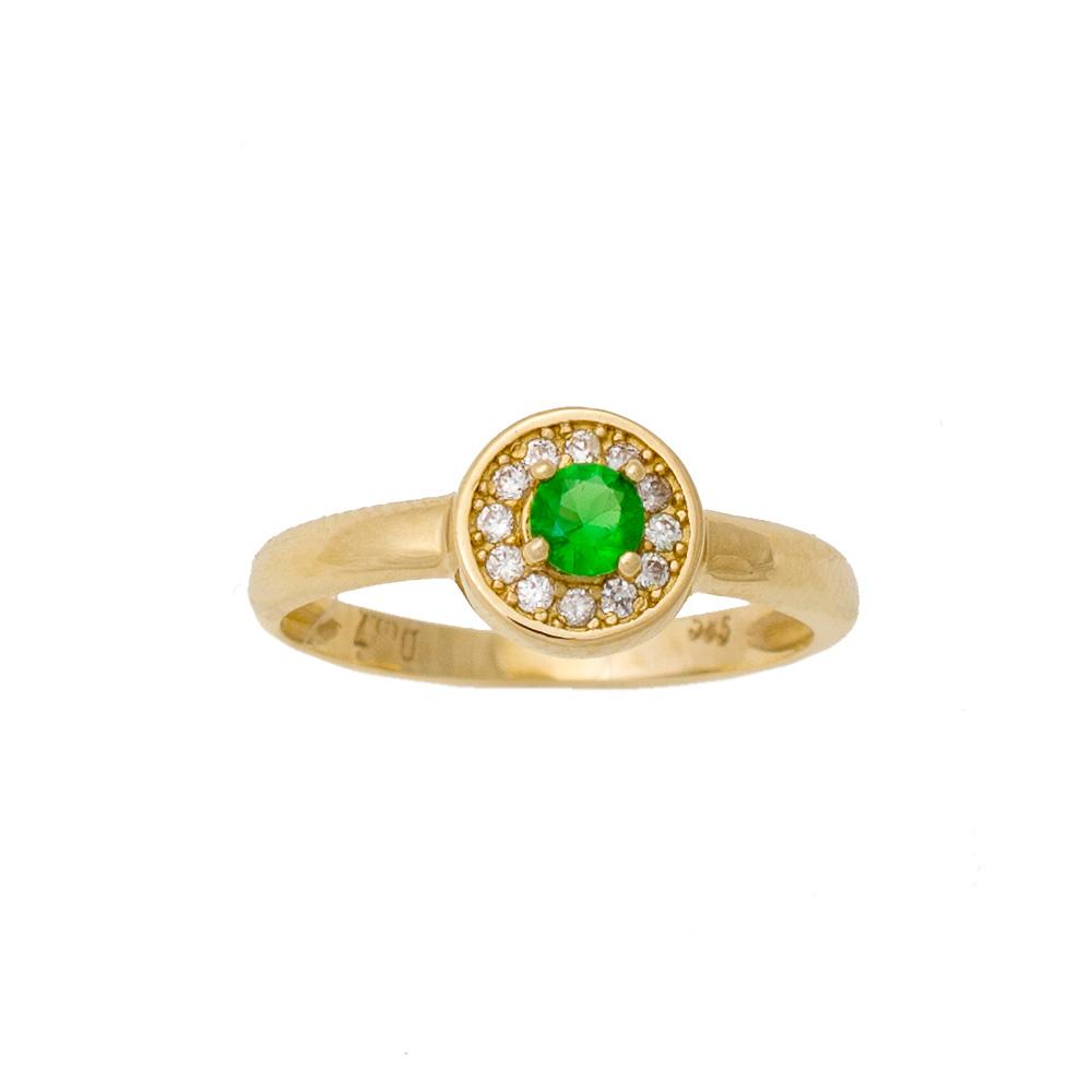 14K Χρυσό Δαχτυλίδι με Ζιργκόν D180G40