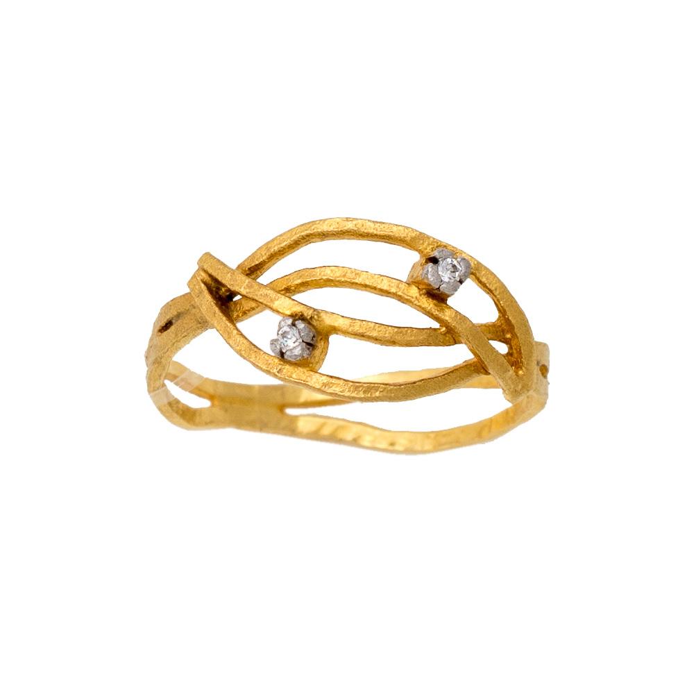 14K Χρυσό Χειροποίητο Δαχτυλίδι με Ζιργκόν DK200MP1
