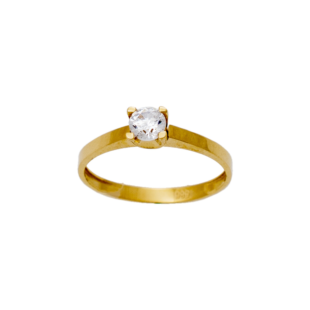 14K Gold Ring with ZC DK421VR1