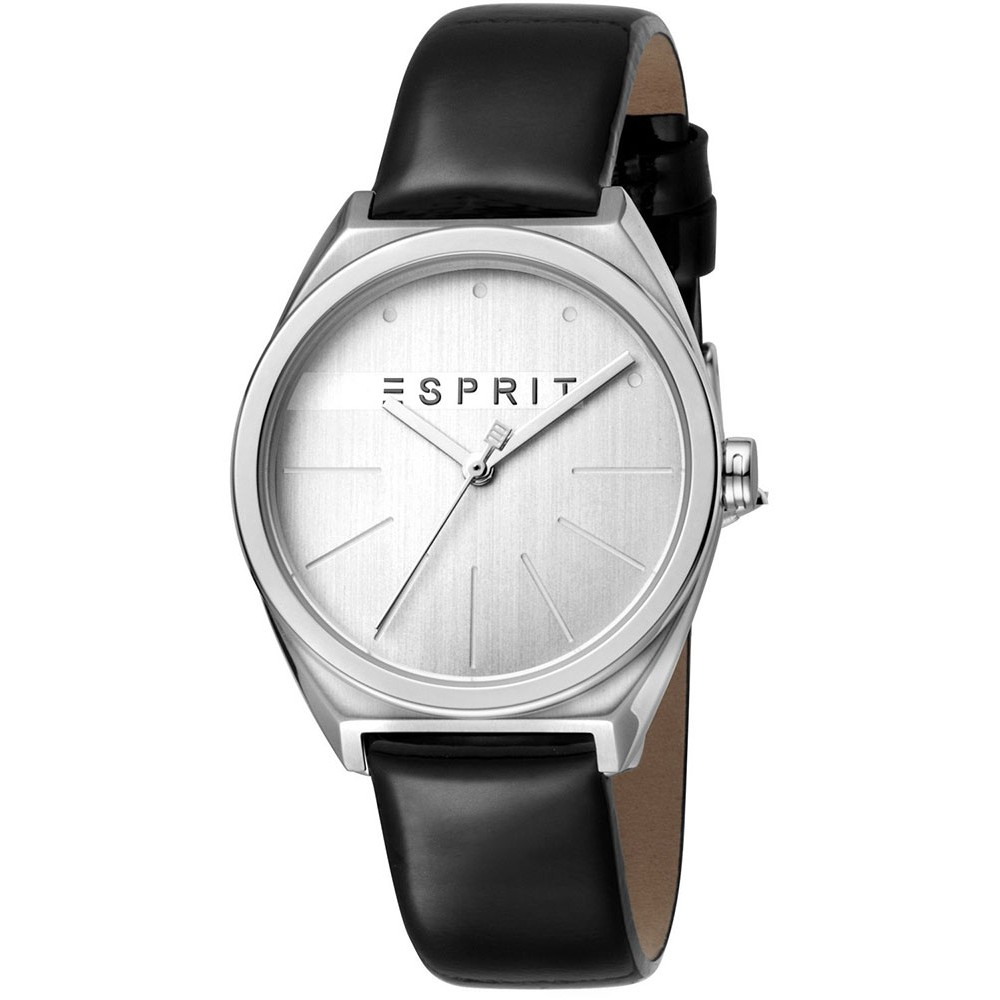 ESPRIT Slice Black Leather Strap ES1L056L0015