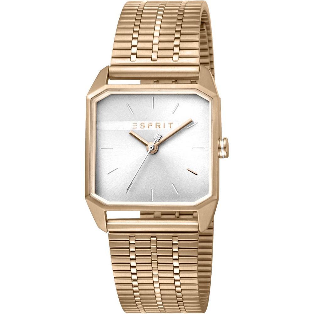 ESPRIT Cube Rose Gold Stainless Steel Bracelet ES1L071M0035