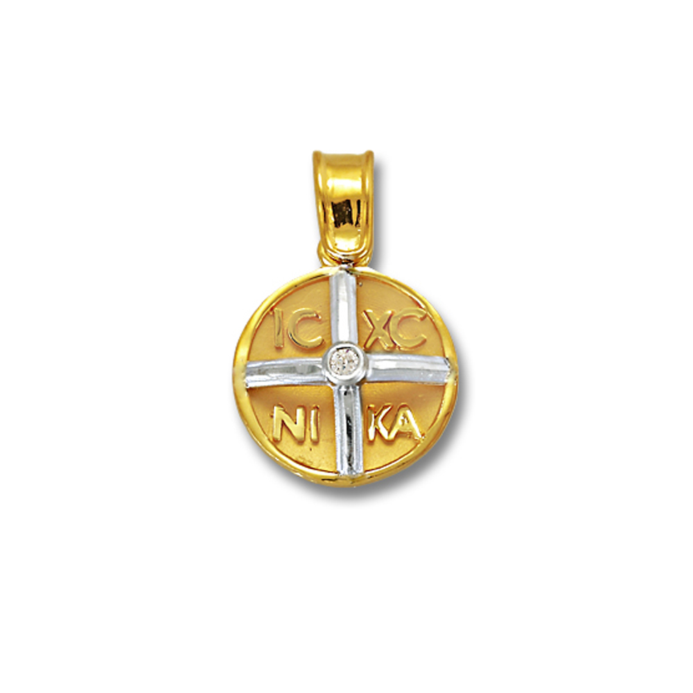 Charm Coin 9K Gold with Diamond AK624B