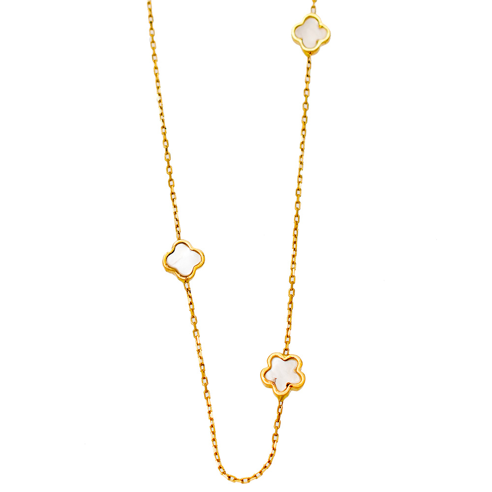 14K Gold Necklace with Ivory KL517VR1