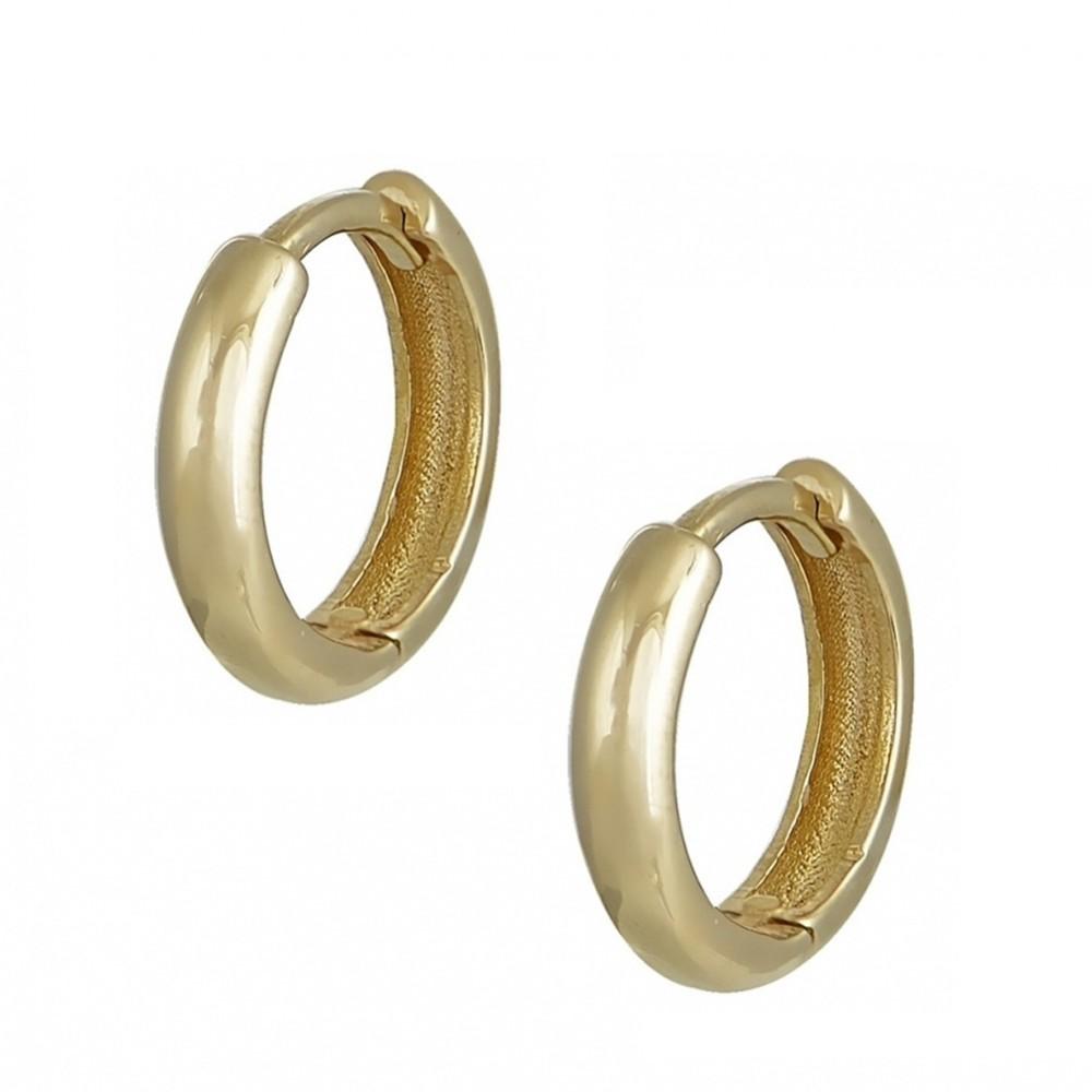 14K Χρυσά Σκουλαρίκια Κρίκοι KR7050