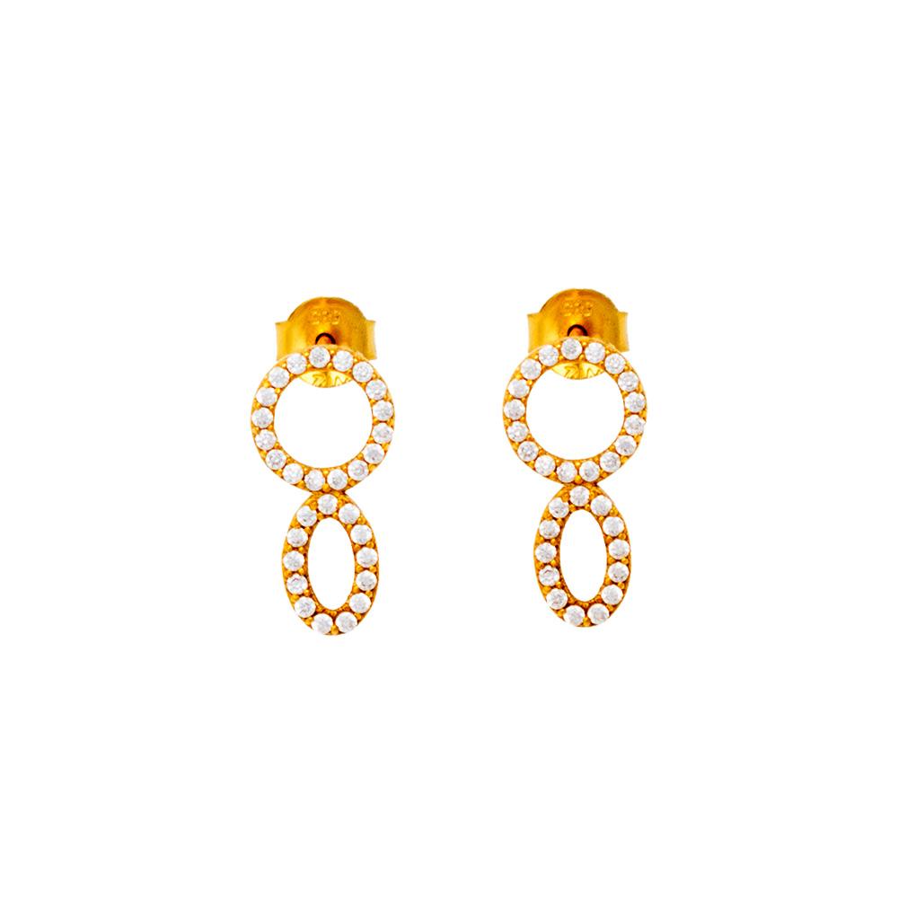 14K Gold Earrings with Zircon SK505AL1