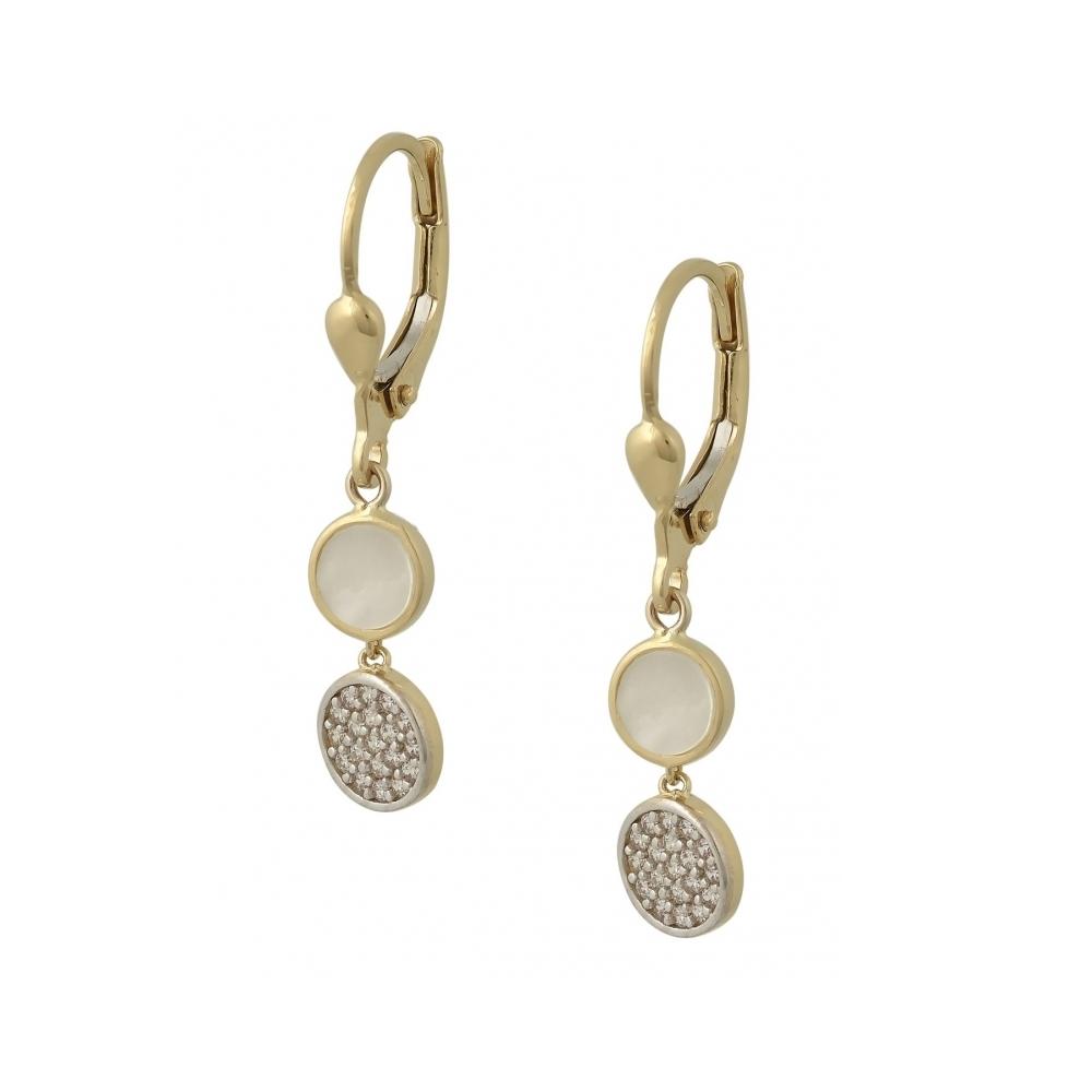 14K Gold Earrings With Zircon SK6143O