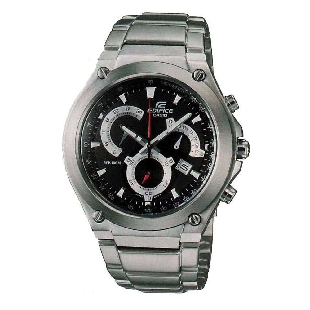CASIO Edifice Chronograph Black Dial Stainless Steel Bracelet EF-525D-1A